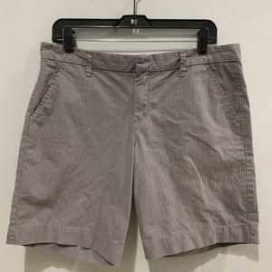 Calvin Klein Grey Striped Shorts Size 10